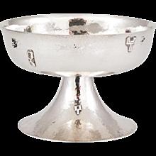 Wiener Werkstatte Silver Centerpiece with hammer beaten ornaments by Josef Hoffmann 1922-1933
