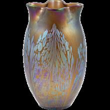 Pair of Loetz vases Medici decoration with unusual height ca 1902