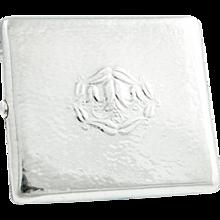 Josef Hoffmann cigarette case gold gilded silver ca. 1910 Wiener Werkstätte