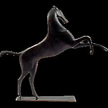 Werkstatte Hagenauer Vienna Galloping Horse Brass partially patinated ca. 1940 marked
