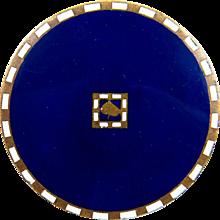 Josef Hoffmann Brooch Wiener Werkstatte Enamel Brass ca. 1910