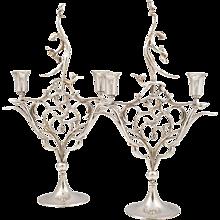 Pair of Candlesticks by Werkstatte Hagenauer