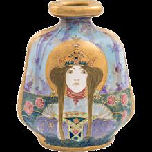 """Amphora Portrait Vase Allegory Russia Riessner, Stellmacher & Kessel"""", Turn- Teplitz"""