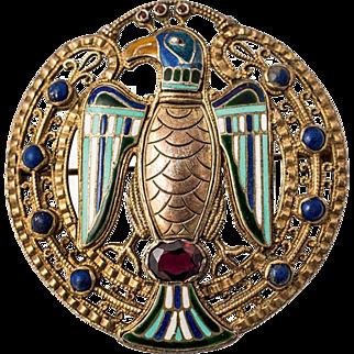 Theodor Fahrner Jugendstil Pendant ca 1915 Enamel and semi-precious Stones