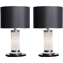 Pair of modernist table lamps by Petitot