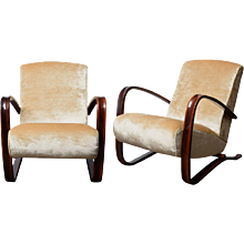Pair of Thonet armchairs designed by Jindrich Halabala