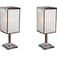 Pair of Art Deco Lamps