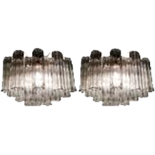 Pair of Venini Tronchi Sconces by Toni Zuccheri, 1970s