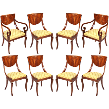 Set of North Italian Walnut Chairs
