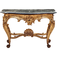 Fine Italian 19th Century Giltwood Console Table