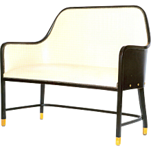 Josef Hoffmann Leather Bench