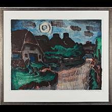""""""" Nächtliche Dorfstrasse in Keitum, Sylt"""" ( Village Street by Night )"""