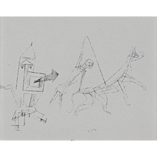 """Stilistisch"", Helio Etching by Paul Klee"