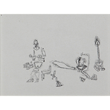 """Helio-Etching """"Möchten sollen"""" by Paul Klee"""