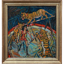 """Tiger Training"" by Heinrich Richter-Berlin"