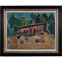 """Rotes Haus am Strand"" ( Red House On The Beach )"