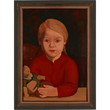 "1920s Portrait ""Child With Doll"""