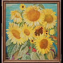 """""""Sonnenblumen"""" ( Sunflowers ) by Franz Xaver Unterseher"""