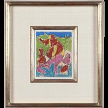 """""""Mutter mit Kinder"""" ( Mother With Children ) by Adolf Richard Hölzel"""