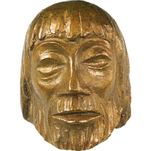 Bronze Christ Mask VI by Ernst Barlach