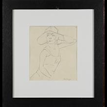"""""""Dame mit Hut"""" by Rudolf Ausleger"""