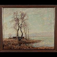 """""""Vorfruehling am Chiemsee. Auf der Fraueninsel"""" by Otto Eduard Pippel"""