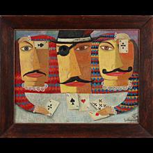 """""""Kartenspieler"""" ( Card Player ) by Zaza Tuschmalischwili"""