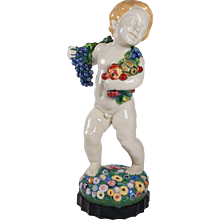 """Putto with Fruits and Flowers, """"Summer"""" by Michael Powolny"""