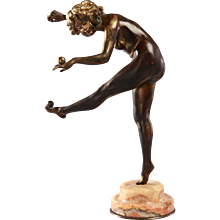"Bronze ""The Juggler"" by Claire Jeanne Roberte Colinet"