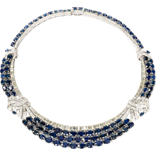 An Exquisite Sapphire and Diamond Necklace
