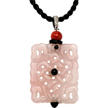 A Beautiful Jade Pendant with Diamonds, Italy