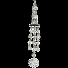 Art Déco Onyx Pearl Diamond Platinum Pendant