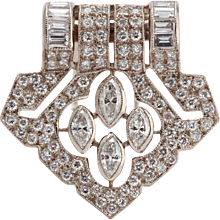 Art Deco Diamond Gold Pin
