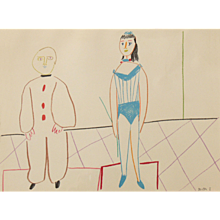 """Cirque"", Colour Lithograph by Pablo Picasso"