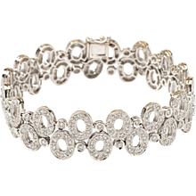 1980s Diamond Bracelet in 18K White Gold