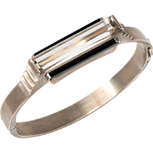 Art Deco Rock Crystal Bangle
