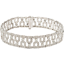 Art Deco Diamond and White Gold Bracelet