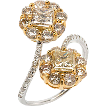 Diamond Gold Bypass Ring