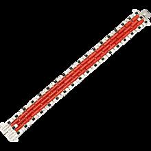 Art Deco Coral Onyx Diamond Bracelet