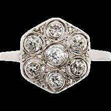 1920s Diamond Gold Ring