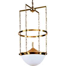 Early 20th Century Adolf Loos Ceiling Lamp, Re-Edition 1914