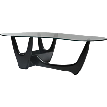 Adrian Pearsall Black Biomorphic Coffee Table
