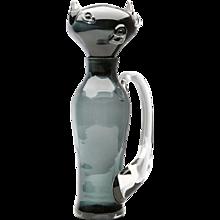 A Blenko Cat Decanter