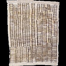 "Beni Ourain Vintage Berber Rug in ""Manhattan Design"" from north africa"