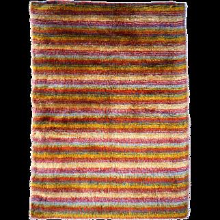 Turkish Striped Angora Oushak Tulu