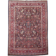 Antique Mashad All Over Design Persian Rug
