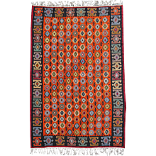 Great hand woven turkish vintage Kilim