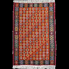 Great hand woven turkish vintage Kilim