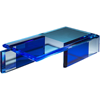 Beautiful Unique Blue Coffee Table by Charly Bounan