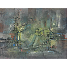 Francis Bott - Untitled - Signed Painting, 1955